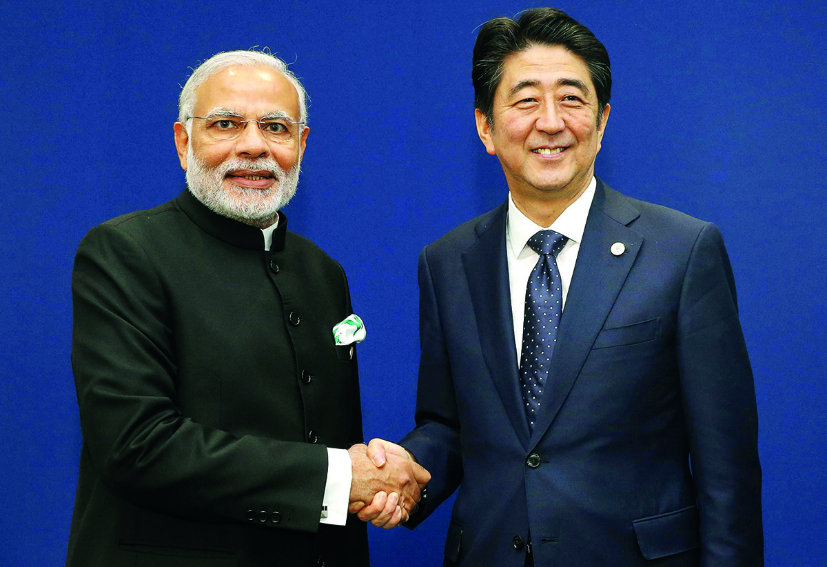 Japan's Shinzo Abe to meet with Indian counterpart, promote security cooperation
