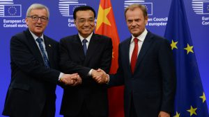 Chinese and EU officials to show strong support for free trade at annual EU-China summit