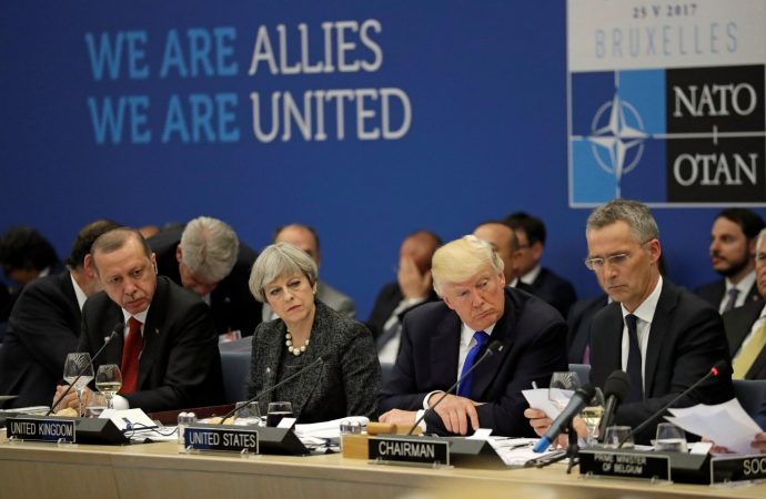NATO leaders gather for annual summit as Trump pushes for increases to defence spending
