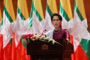 Myanmar's Aung San Suu Kyi to address democracy, Rohingya issues in Singapore speech