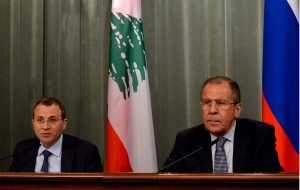 Lebanese and Russia foreign ministers meet in Moscow to discuss potential Idlib assault