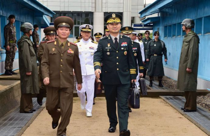 North and South Korean military hold talks ahead of leadership summit