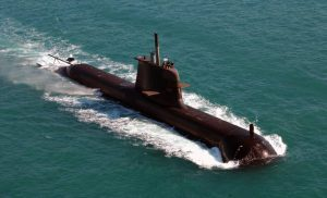 The Royal Australian Navy's HMAS Dechaineux / Attack class submarine