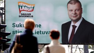 Voters in Lithuanian presidential elections focus on inequality and relations with the EU