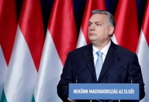 Donald Trump meets with Hungarian PM Viktor Orban at the White House